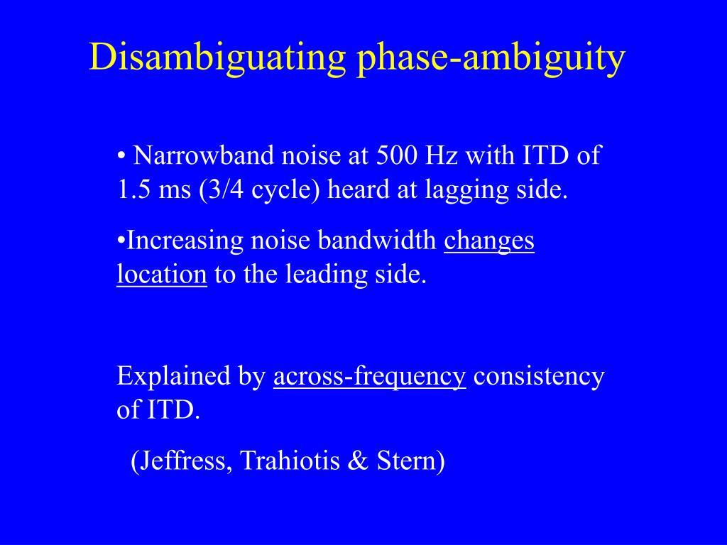 Disambiguating phase-ambiguity