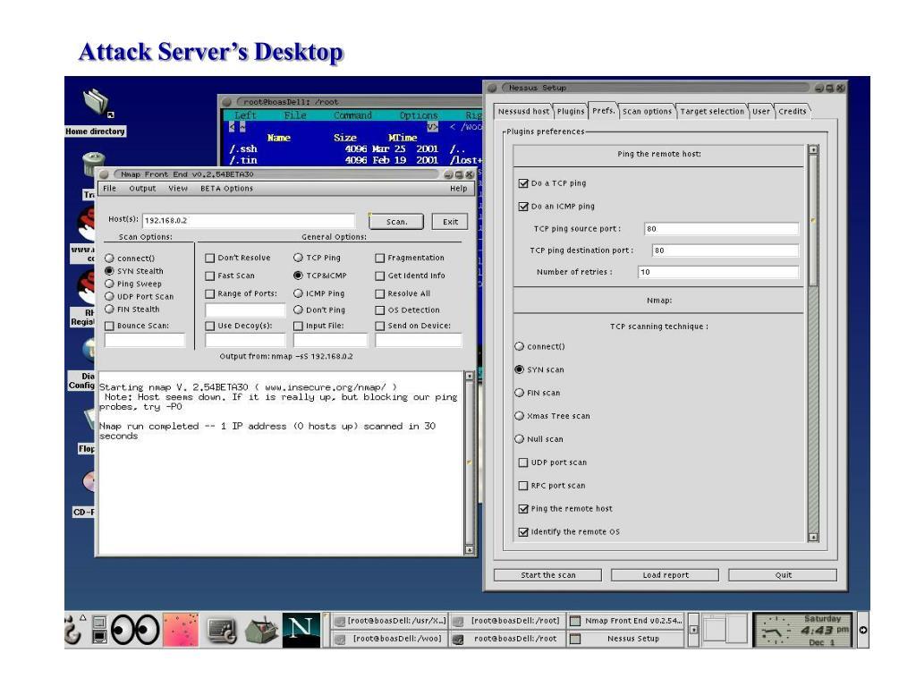 Attack Server's Desktop