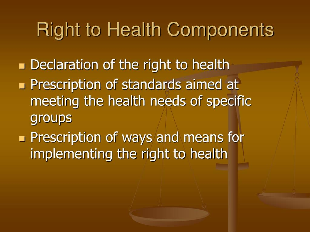 Right to Health Components