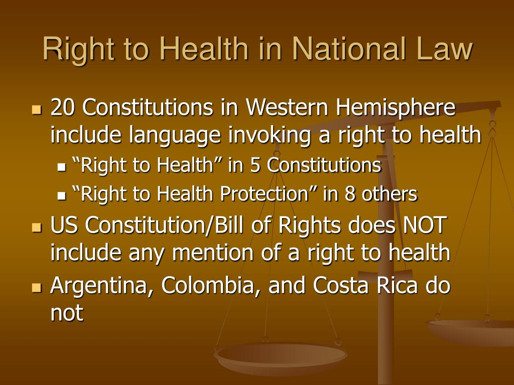 Right to Health in National Law
