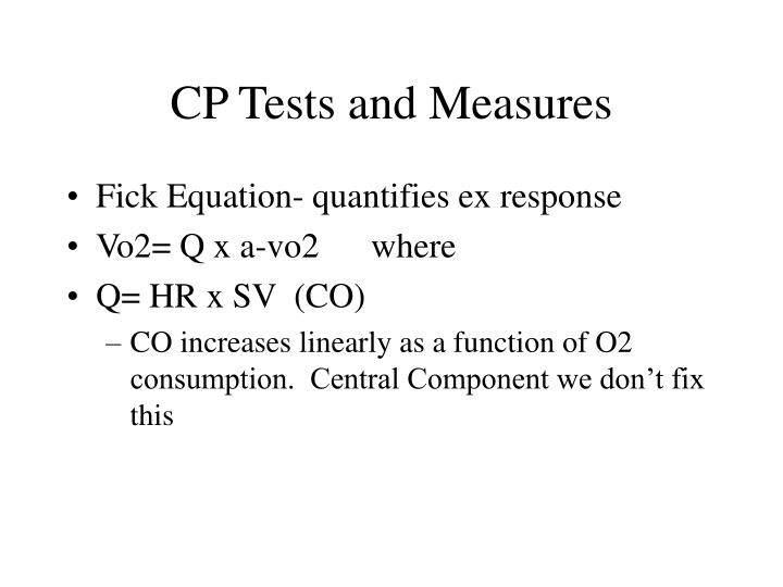 Cp tests and measures