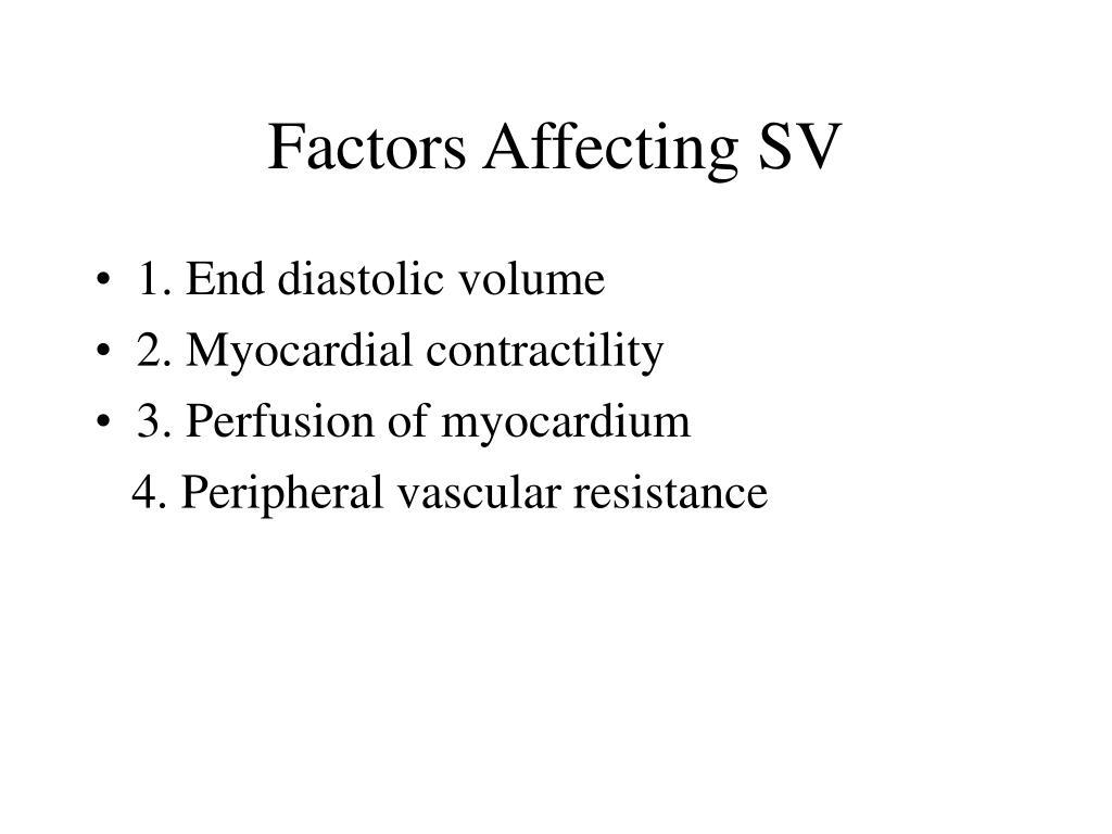 Factors Affecting SV
