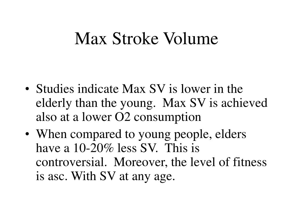 Max Stroke Volume