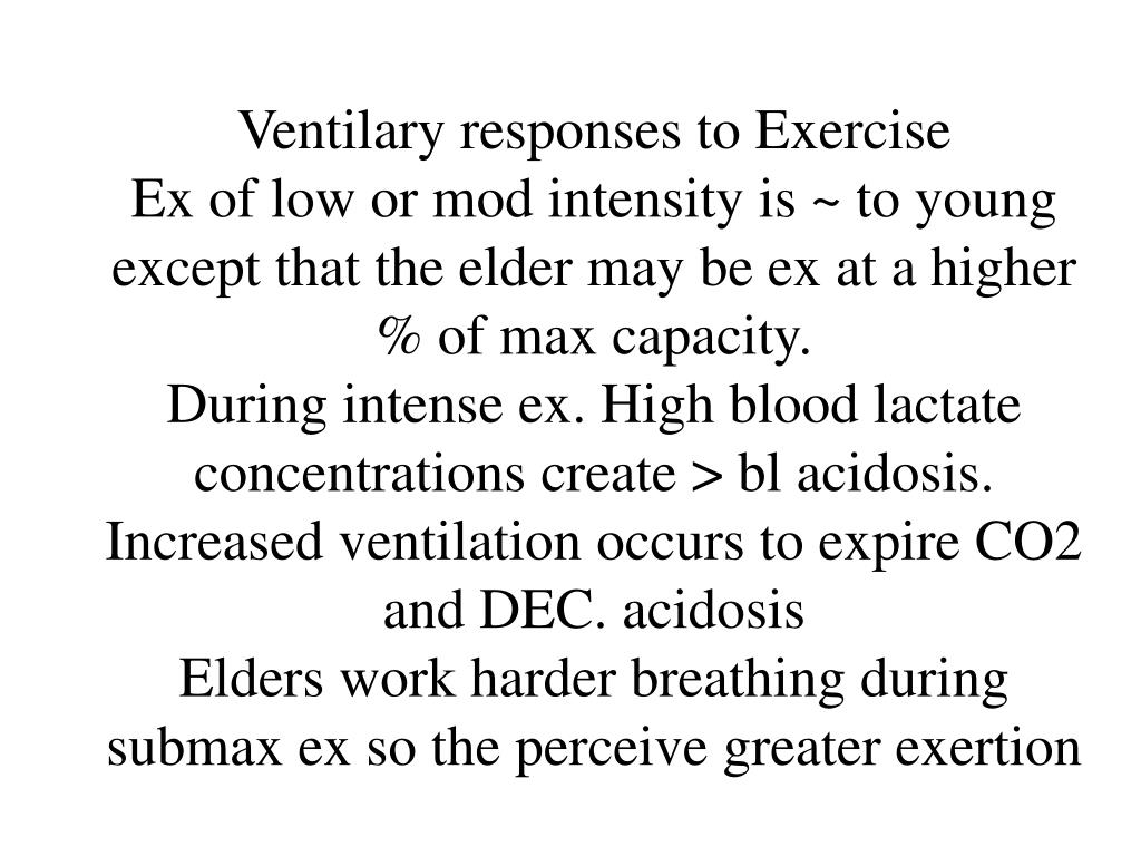 Ventilary responses to Exercise