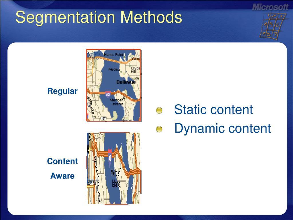 Segmentation Methods