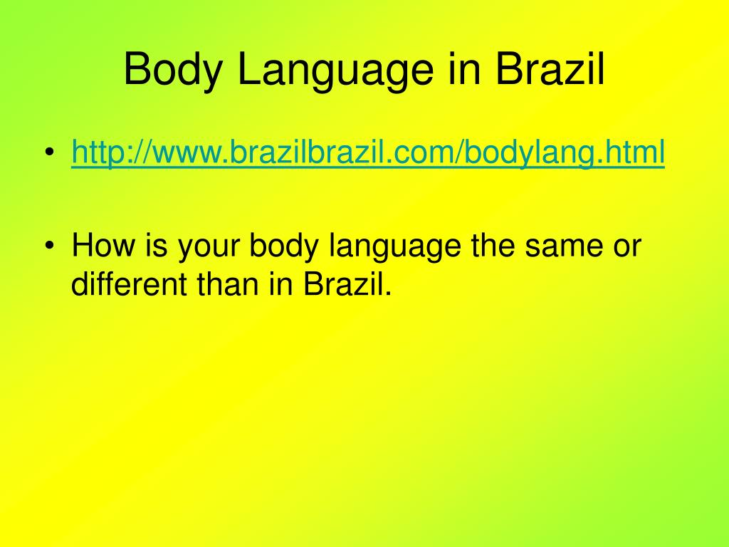 Body Language in Brazil