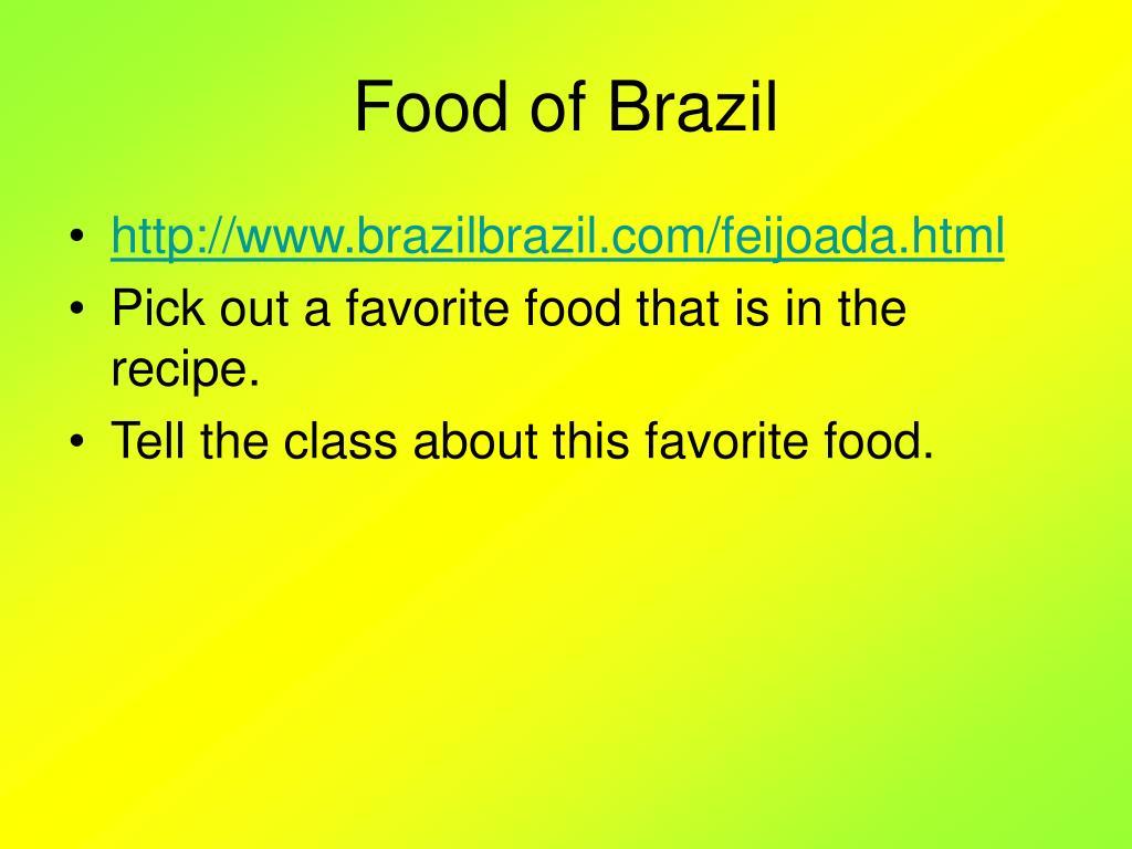 Food of Brazil