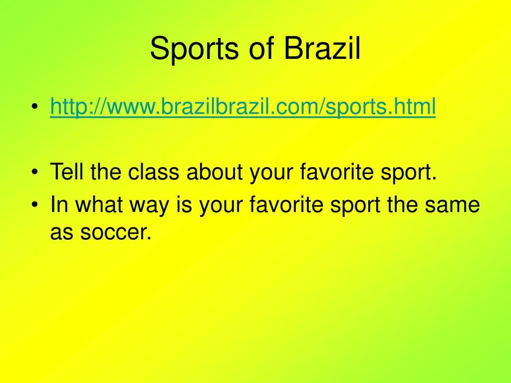 Sports of Brazil
