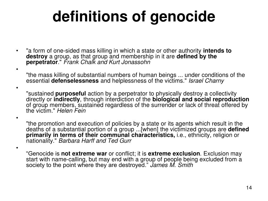 definitions of genocide