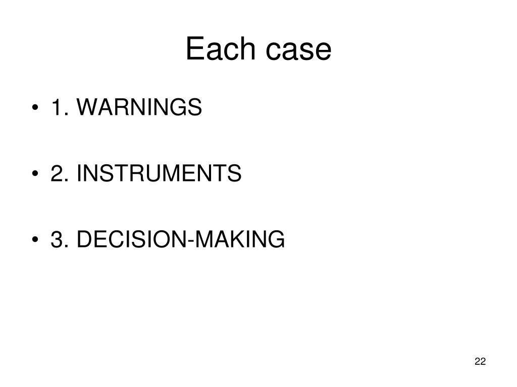 Each case