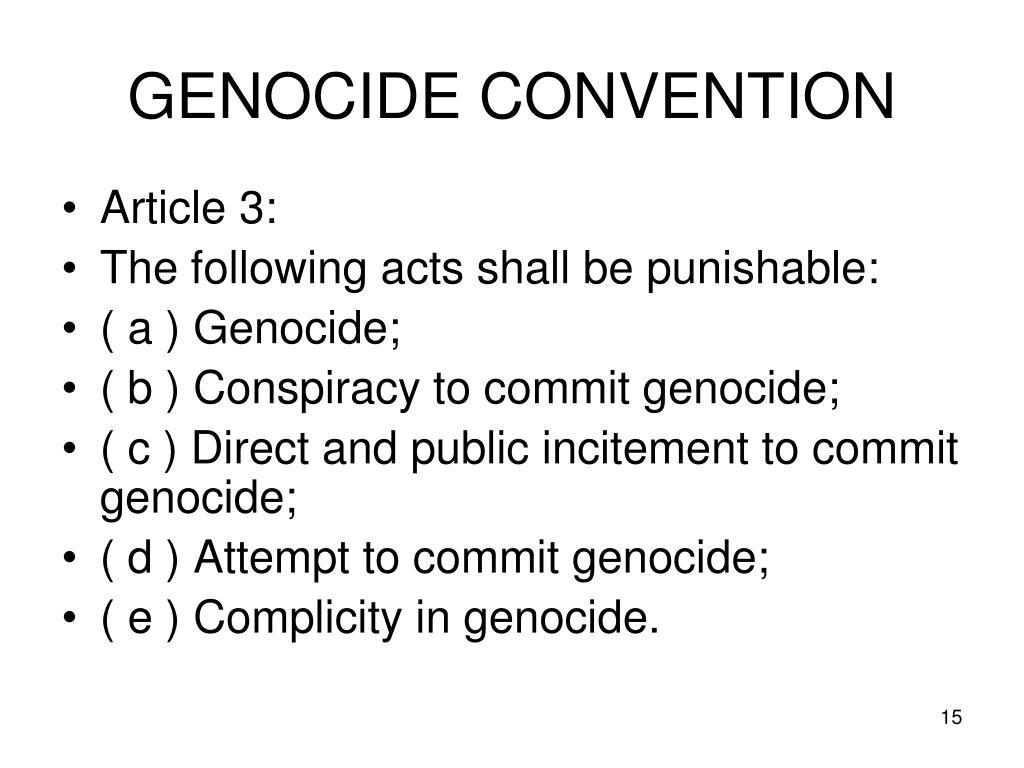 GENOCIDE CONVENTION