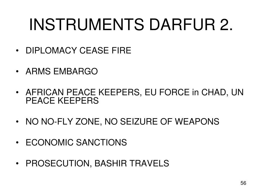 INSTRUMENTS DARFUR 2.