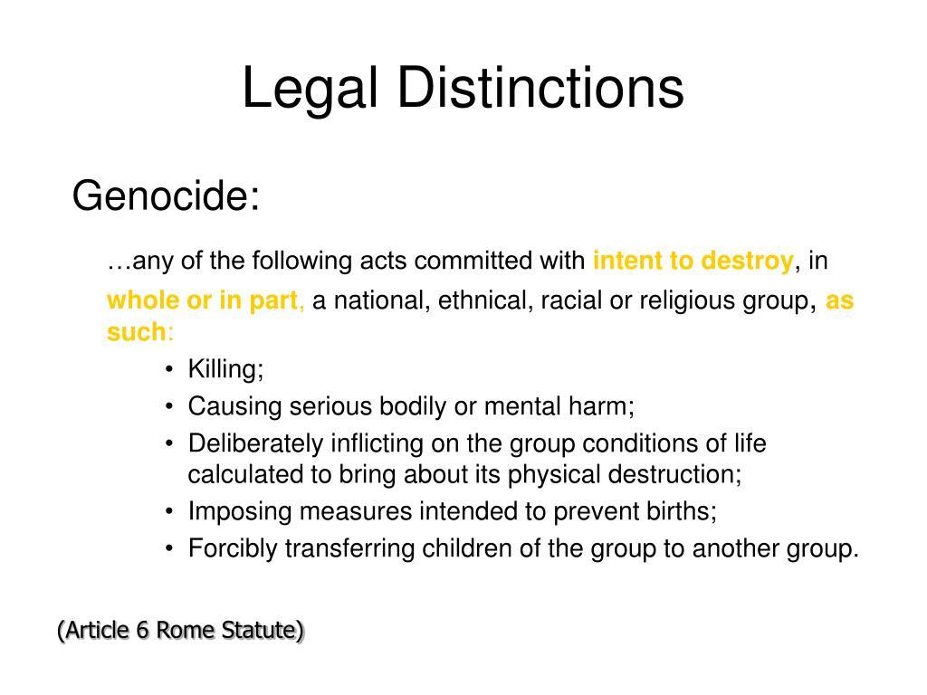 Legal Distinctions