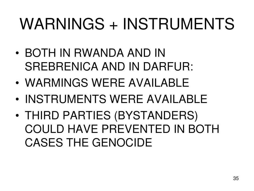 WARNINGS + INSTRUMENTS