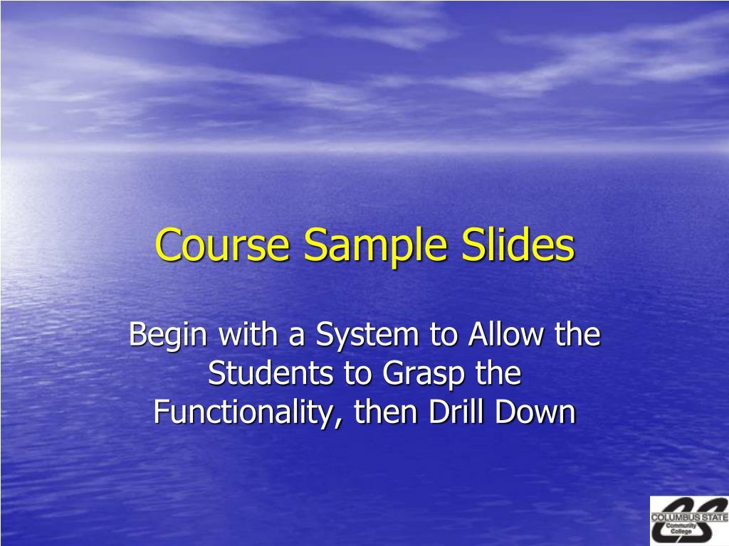 Course Sample Slides