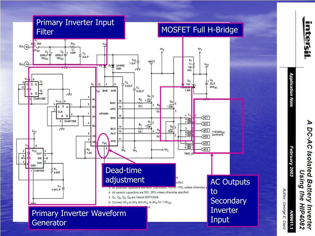 Primary Inverter Input Filter