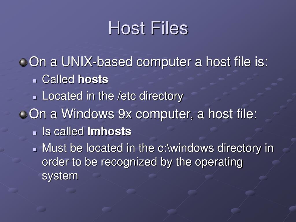 Host Files