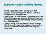employee problem gambling training