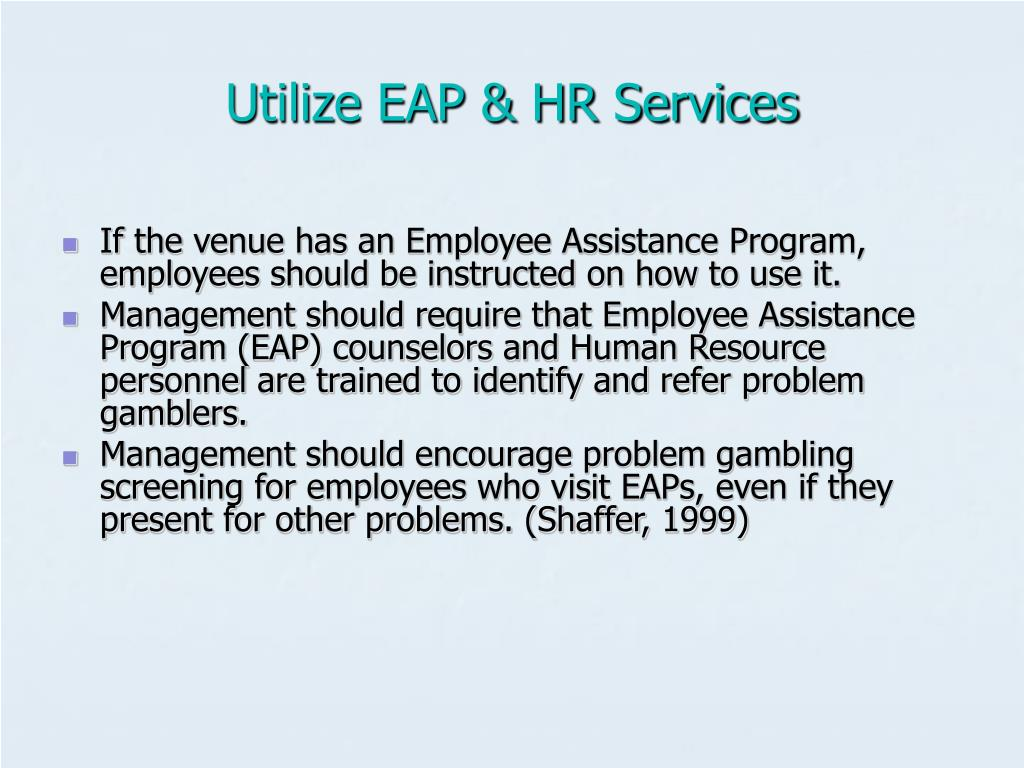 Utilize EAP & HR Services