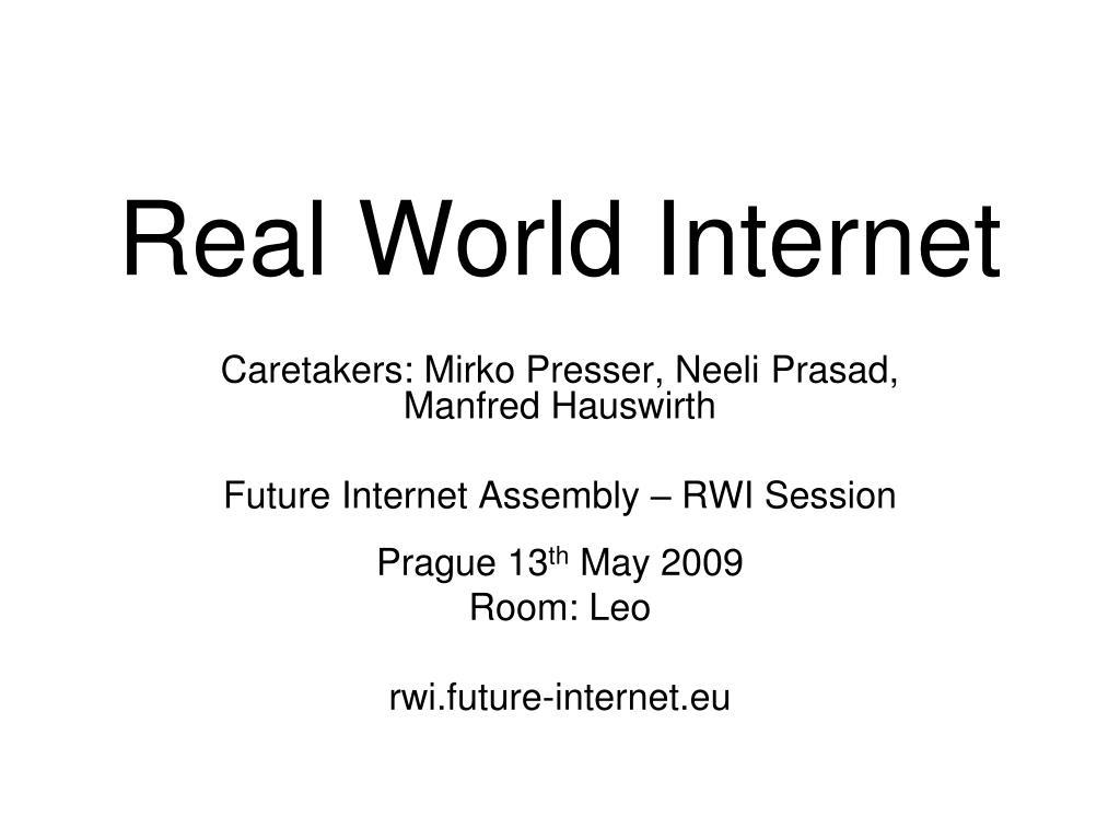 Real World Internet