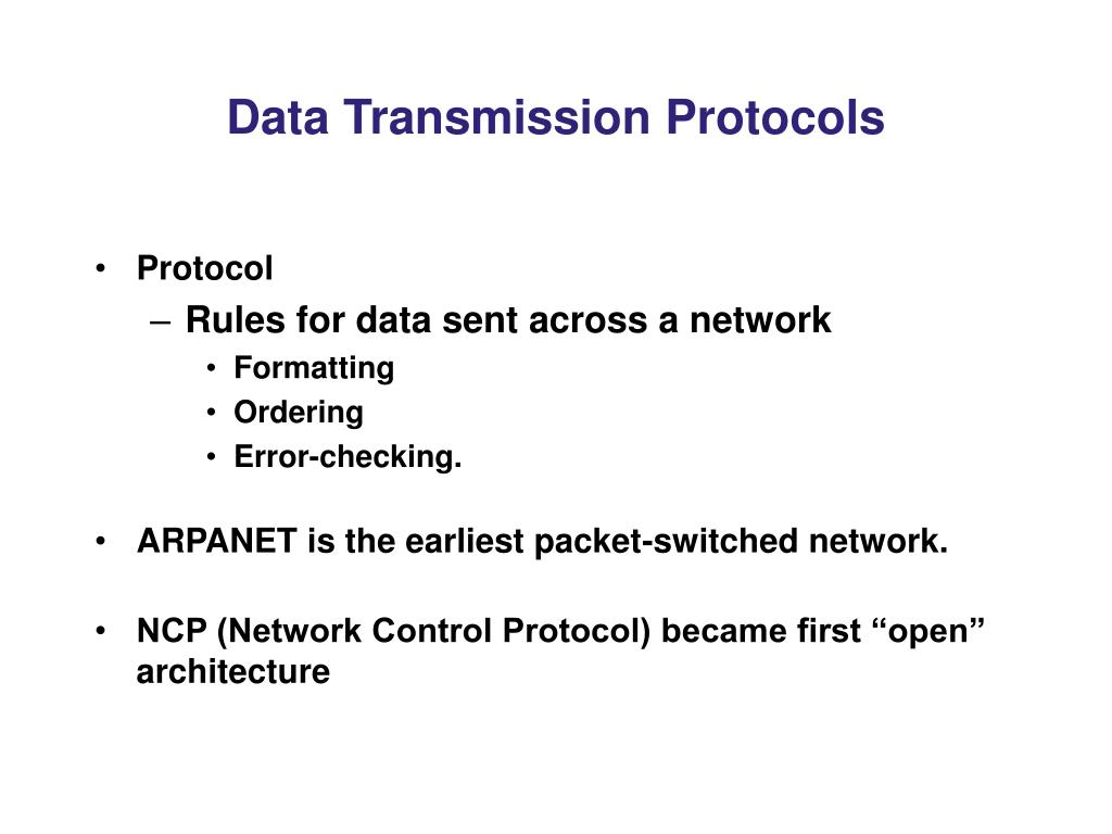 Data Transmission Protocols
