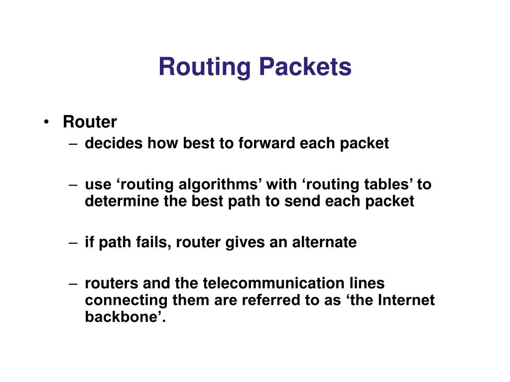 Routing Packets