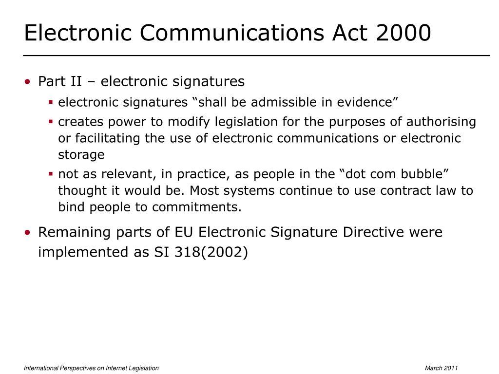 Electronic Communications Act 2000