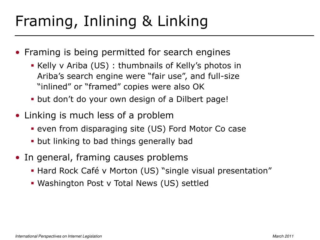 Framing, Inlining & Linking
