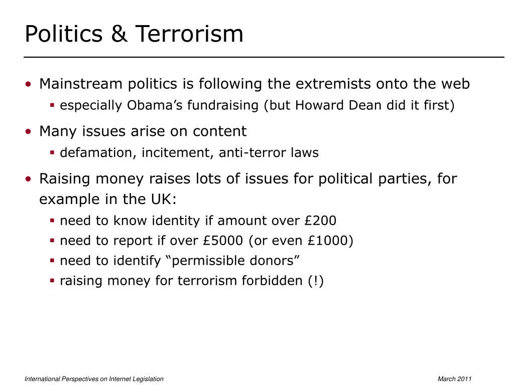 Politics & Terrorism