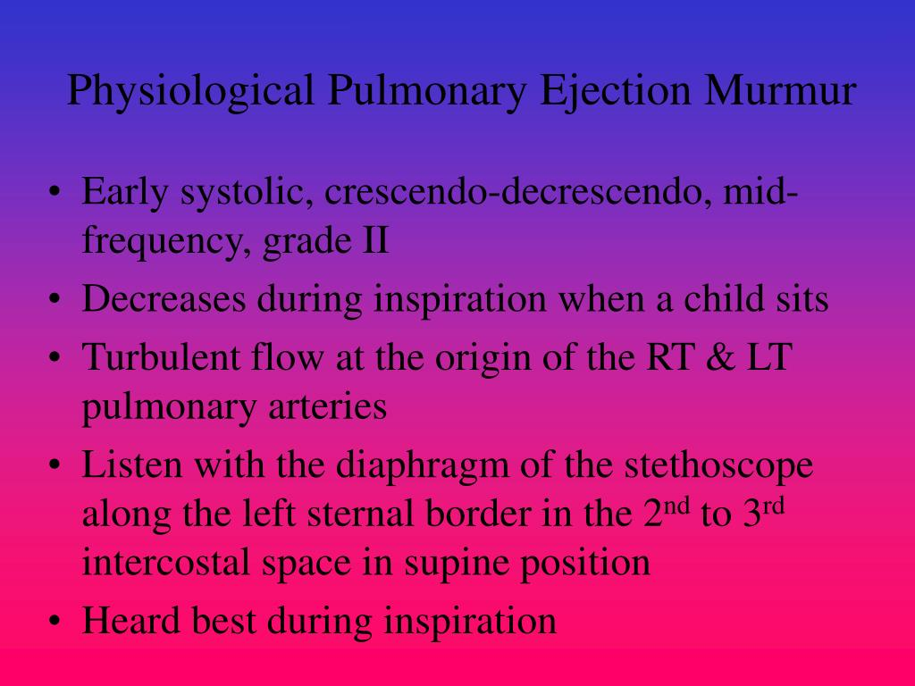 Physiological Pulmonary Ejection Murmur