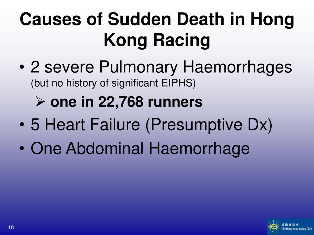 Causes of Sudden Death in Hong Kong Racing