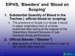eiphs bleeders and blood on scoping