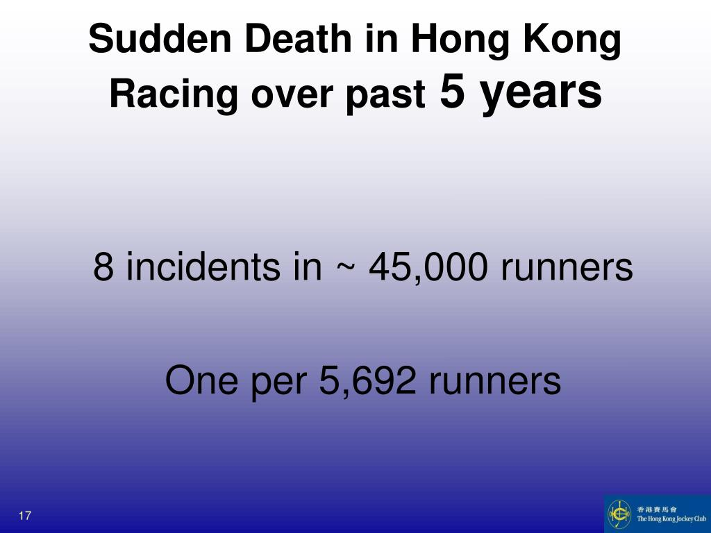Sudden Death in Hong Kong Racing over past
