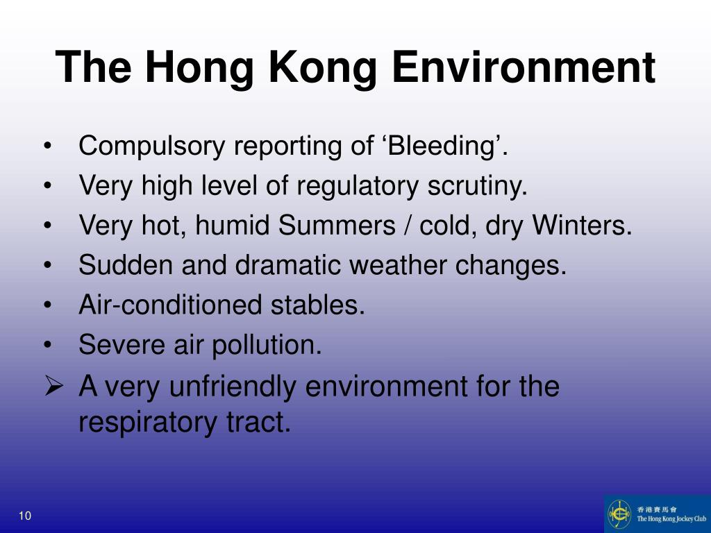 The Hong Kong Environment