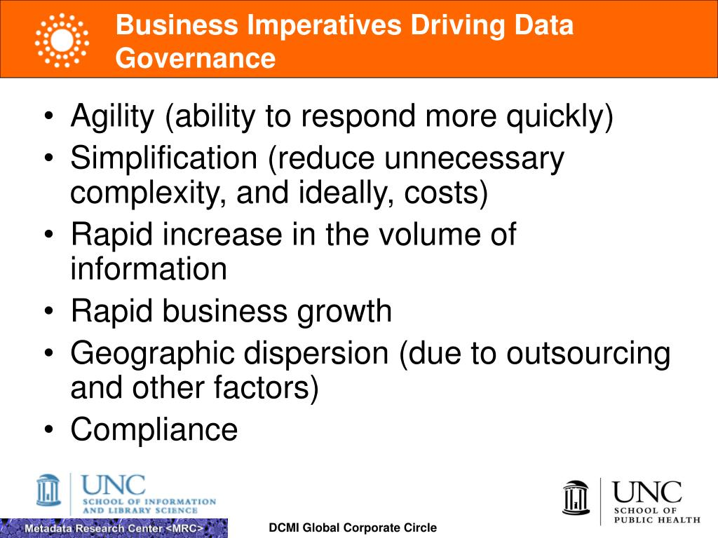 Business Imperatives Driving Data Governance