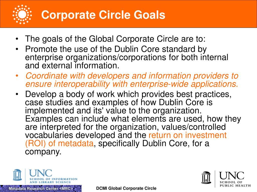 Corporate Circle Goals