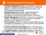 ea governance instruments