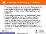 enterprise architecture ea definition