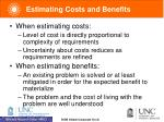 estimating costs and benefits