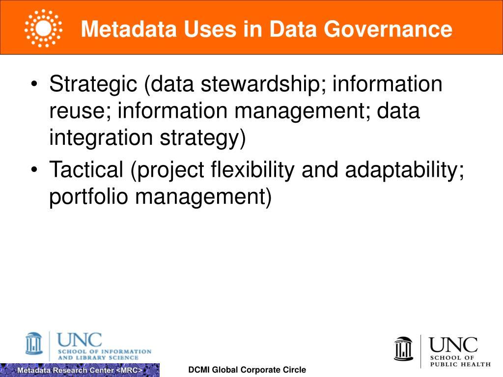 Metadata Uses in Data Governance