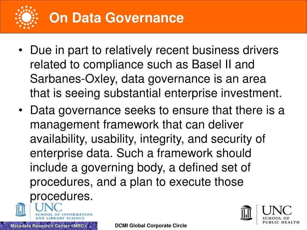 On Data Governance