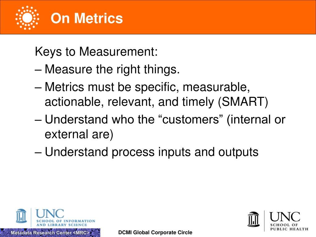 On Metrics