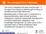 the changing role of metadata