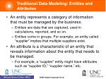 traditional data modeling entities and attributes
