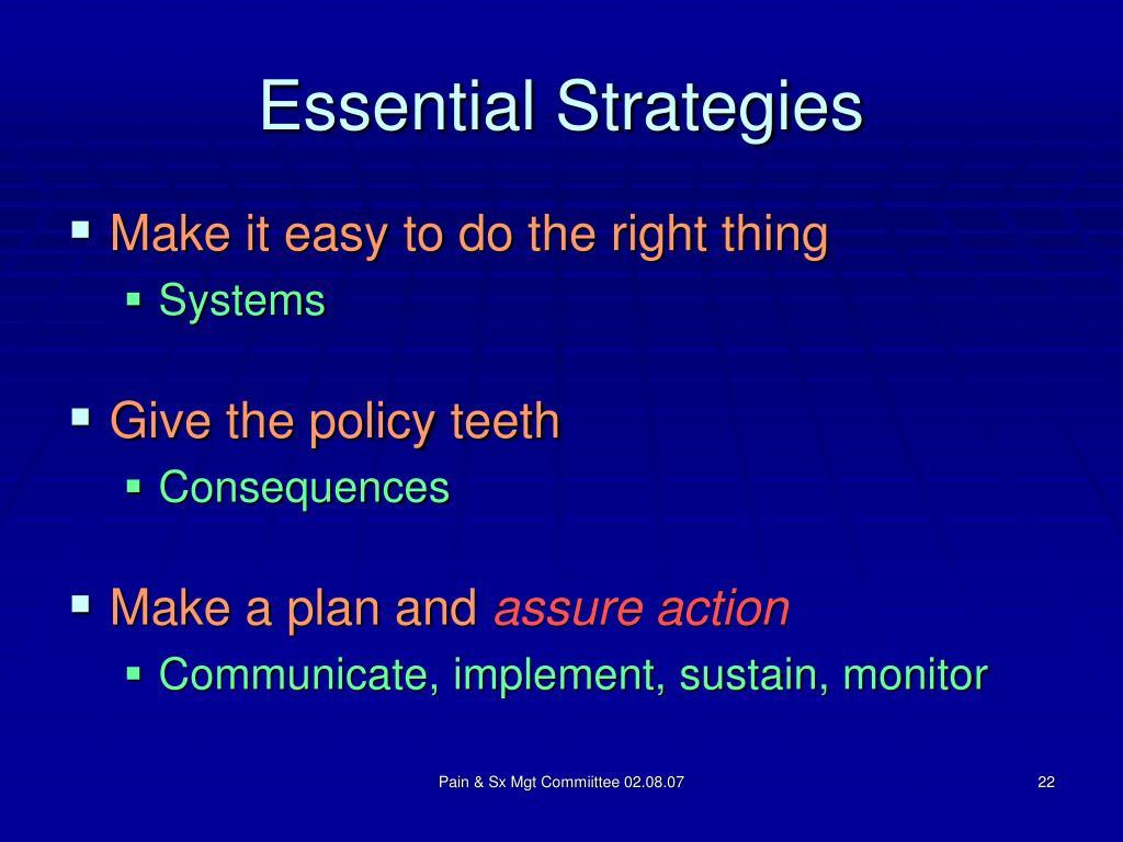 Essential Strategies