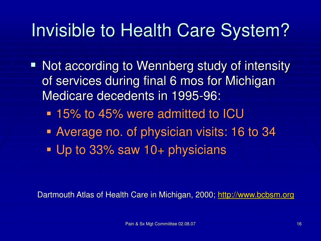 Invisible to Health Care System?