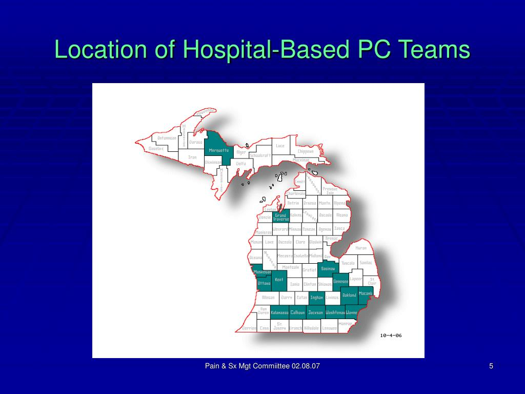Location of Hospital-Based PC Teams
