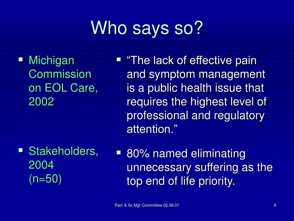 Michigan Commission on EOL Care, 2002