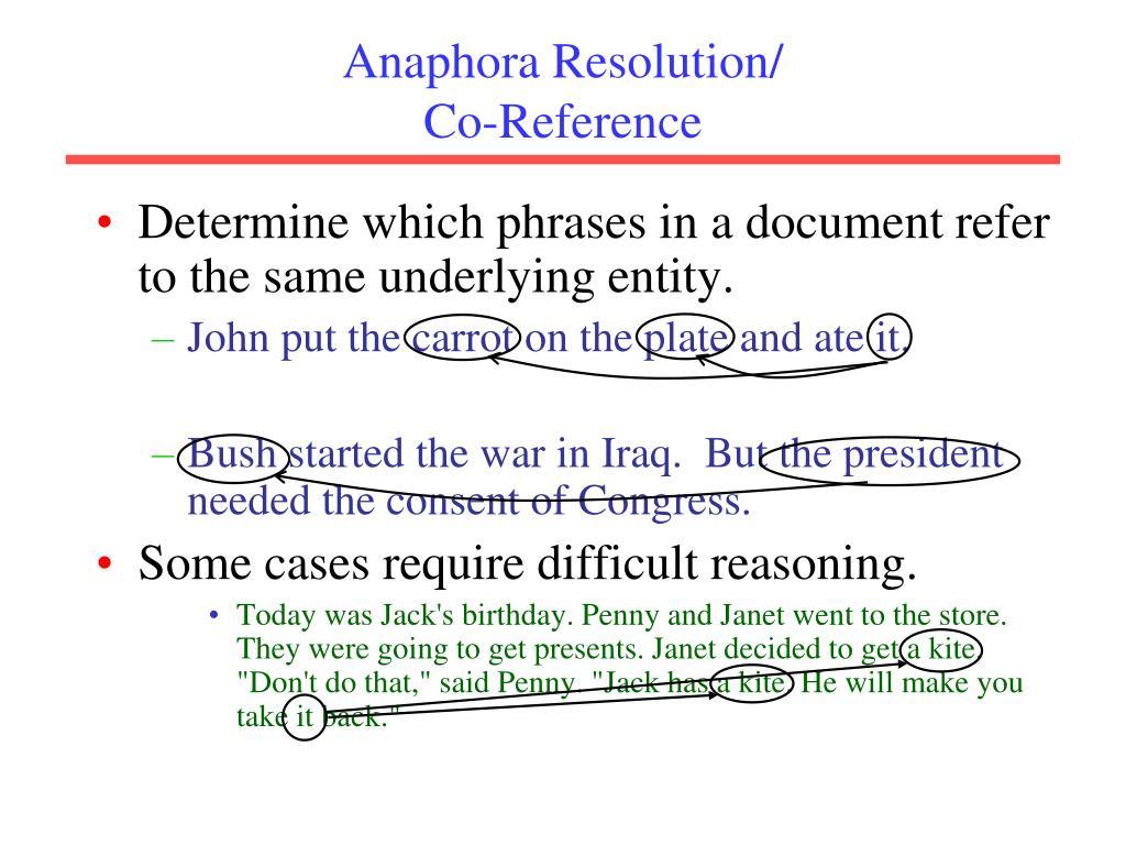 Anaphora Resolution/