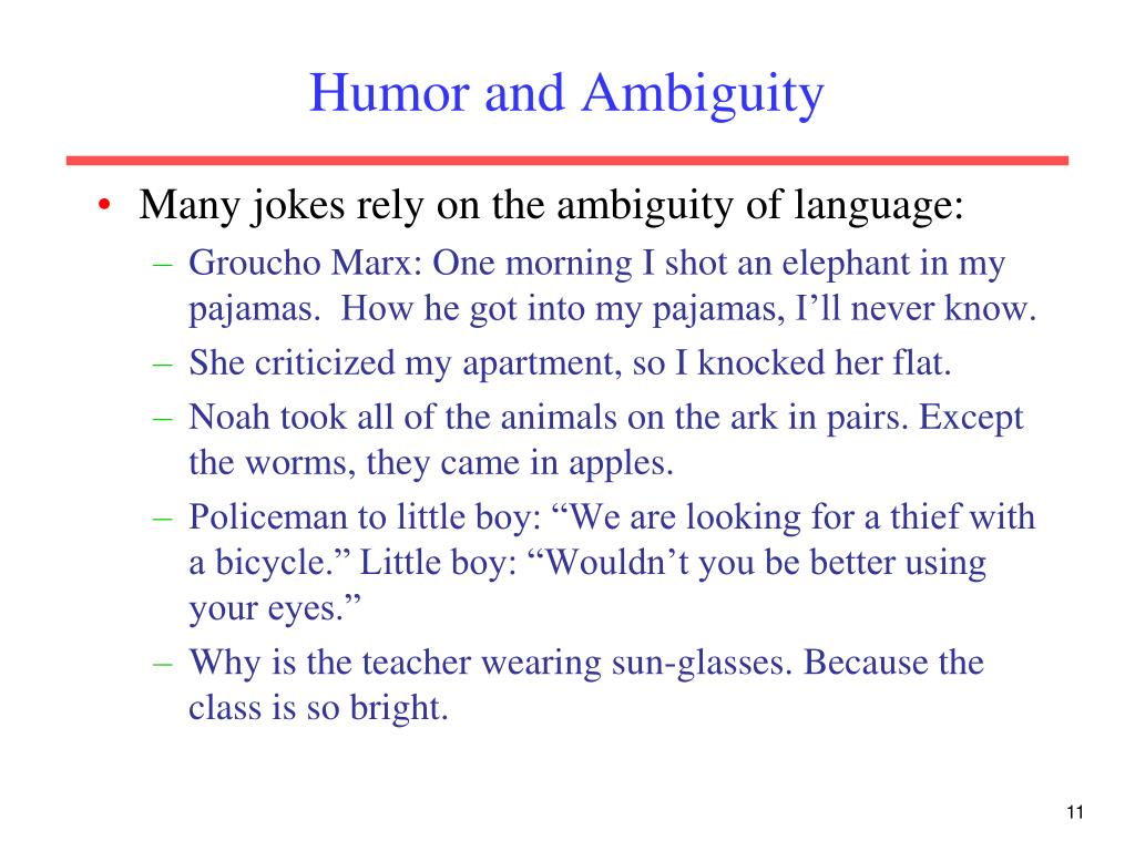Humor and Ambiguity